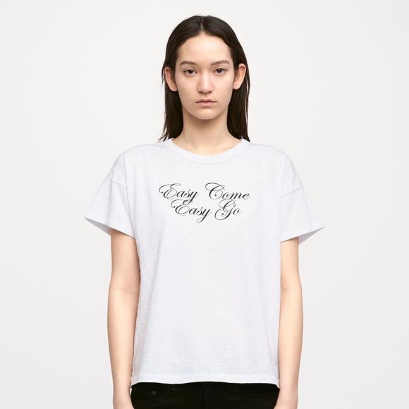 Rag & Bone Woman Cotton Piqué T-shirt White Size M Rag & Bone With Mastercard Free Shipping View nblbpapVb